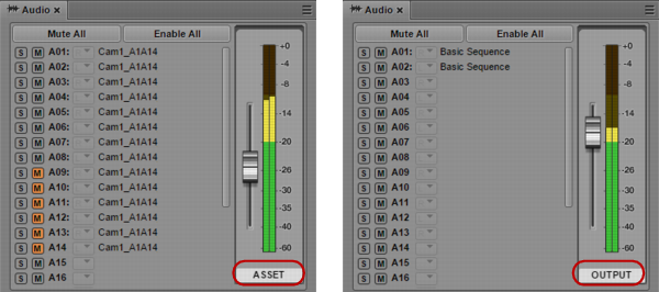 Audio Monitoring for Assets and Basic Sequences
