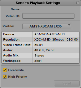 Specifying Send to Playback Settings